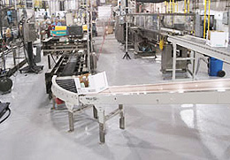 Bottling Plant with Coated Floors