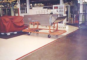 Mobile Equipment on Sealed Flooring