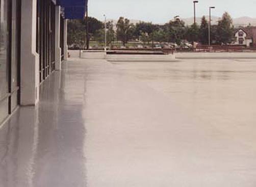 Coated Outdoor Parking Lot